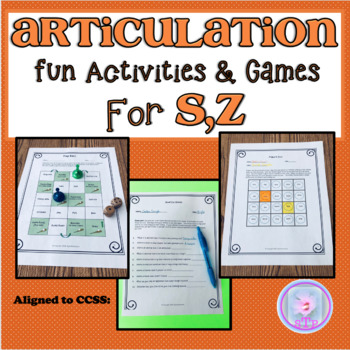 Articulation Fun Activities and Games for S,Z