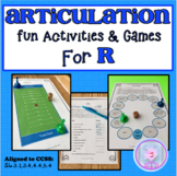 Distance Learning R Articulation Fun Activities and Games