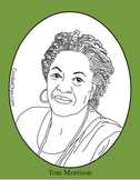 Toni Morrison Clip Art, Coloring Page or Mini Poster