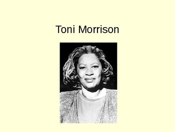 Toni Morrison introduction (used for Song of Solomon)