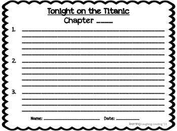 Tonight on the Titanic & Fact Finder Titanic Paired Reading Packet