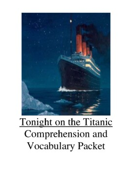 Magic Tree House Tonight on the Titanic Guided Reading Unit Level M