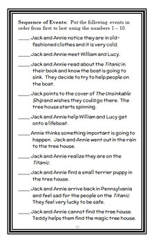 Tonight on the Titanic | Titanic Fact Tracker : Magic Tree House BUNDLE (47 pgs)