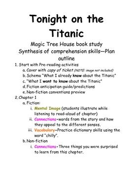 Tonight on the Titanic books unit