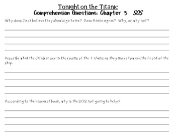 Tonight on the Titanic by Mary Pope Osborne:  A Complete Literature Study!