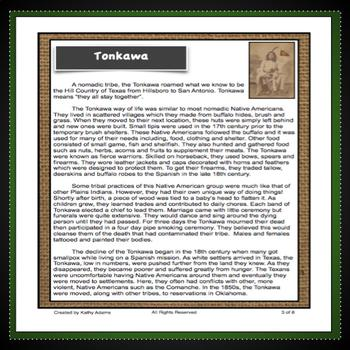Tonkawa Indians Research