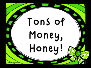 Tons of Money, Honey! Money Task Cards