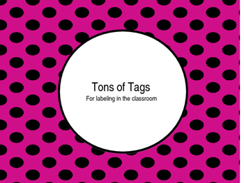 Tons of Tags for labeling