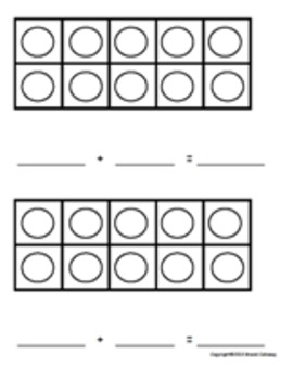 Tons of Ten Frames Student Sheet