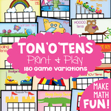 Ten Frames - Tons o Tens - 180 FUN Game Combinations