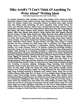 Tons of writing ideas