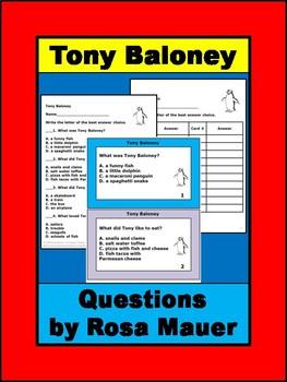 Tony Baloney Literacy Set