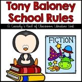 Tony Baloney School Rules Literature Unit