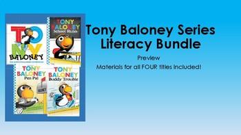 Tony Baloney Series  Literacy Bundle