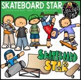 Skateboard Star Clip Art Set {Educlips Clip Art}