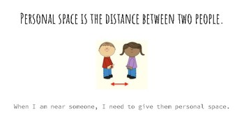 Too Close,  A Social Story about Personal Space
