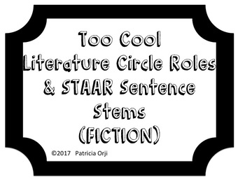 Too Cool Fiction Literature Circle &  STAAR Stems