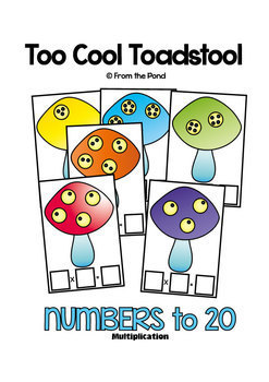 Multiplication Activity Math Center Cards - Too Cool Toadstool