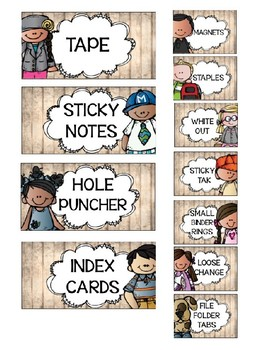 Too Cute Editable Teacher Toolbox Weathered Wood Labels