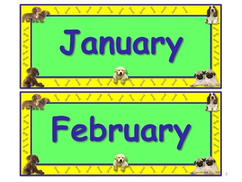 Too Cute PUPPY Themed Calendar & Weather Set - Use Daily!!!