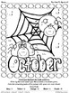 Too Cute To Spook ~ Halloween Color By The Number Code Mat