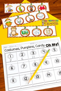 Halloween Math and Literacy Centers for Kindergarten