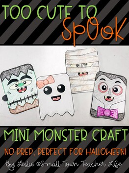 Too Cute to Spook- Mini Monster Craft and Bulletin Board! (Red Ribbon Week)