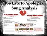 Too Late to Apologize Song Analysis