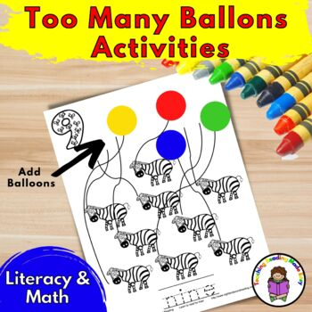 Literacy Centers/Guided Reading Activity Pack:  Too Many Balloons