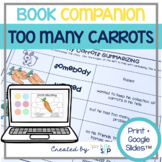 Too Many Carrots Speech Language Therapy Book Companion