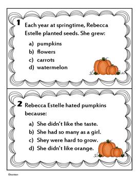Too Many Pumpkins - Literature Scoot