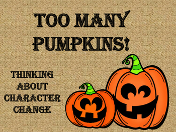 Too Many Pumpkins Response Questions