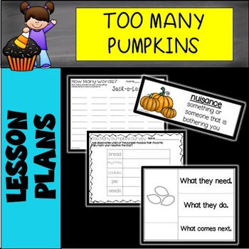 """""""Too Many Pumpkins"""" by Linda White Read Aloud Lesson"""