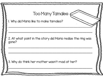 Too Many Tamales ~43 pgs. Common Core Activities