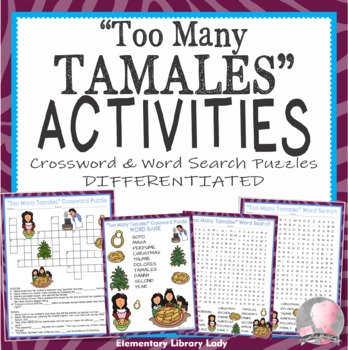 Too Many Tamales Activities Soto Crossword Puzzle and Word ...