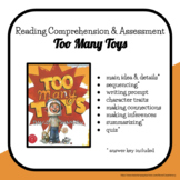 Too Many Toys Comprehension Activities Packet