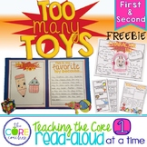 Too Many Toys: FREEBIE Interactive Read-Aloud Lesson Plans and Activities