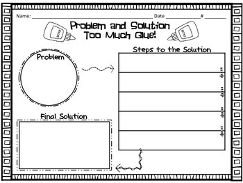 Too Much Glue Activity Pack