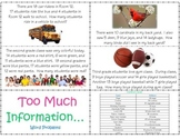 Too Much Information - WORD PROBLEM CARDS