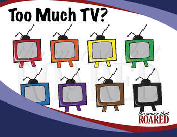 Too Much TV (Clipart)