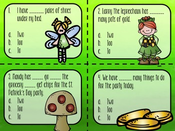 Too, Two and To: A Homophone Pack