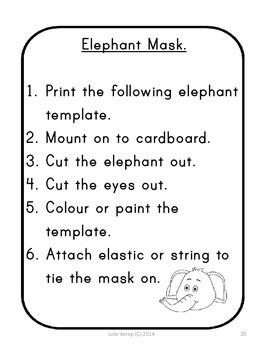 Too many elephants in this house - literacy and numeracy activities