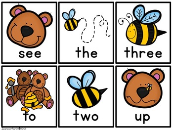 Too sweet Honey Bees - Word Wall game