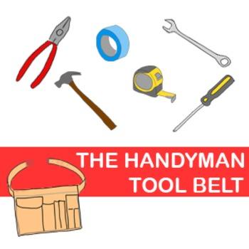 Tool Belt Clip Art (with 6 tools)