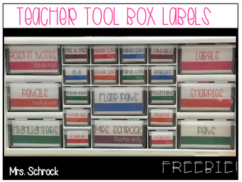 Tool Box Labels: Bright