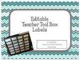 Tool Box Labels-Gray/Teal/White Chevron (Editable)