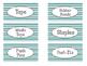 Tool Box Labels-Gray/Teal/White Chevron (Editable)