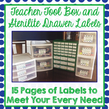 Teacher Tool Box Blue and Green with Nautical Option