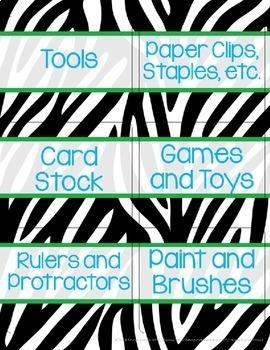Tool Box Labels