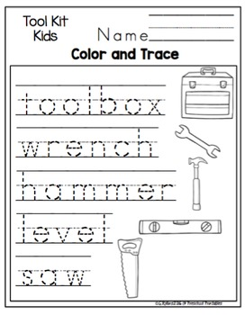 "Tool Kids Printable ""No Prep"""